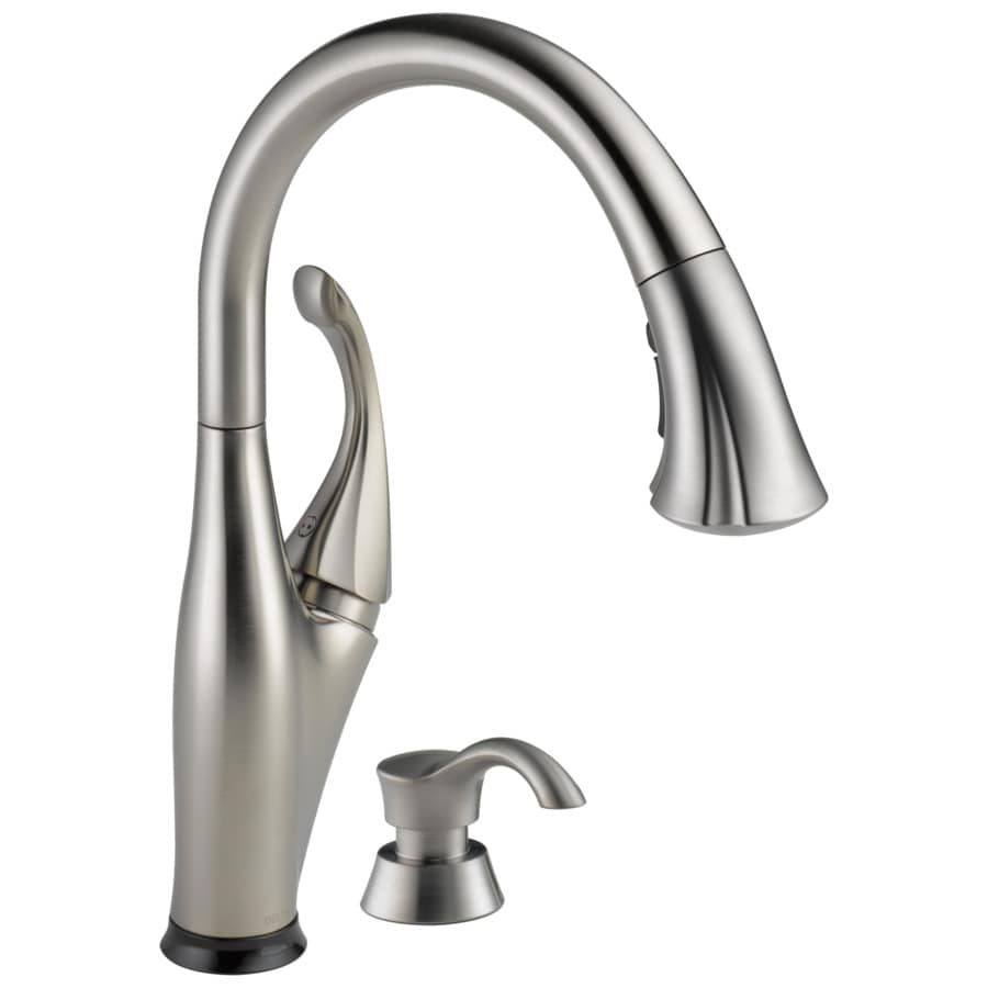 Delta Touch2o Kitchen Faucet Shop Delta Addison Touch2o Stainless 1 Handle Pull Down Touch