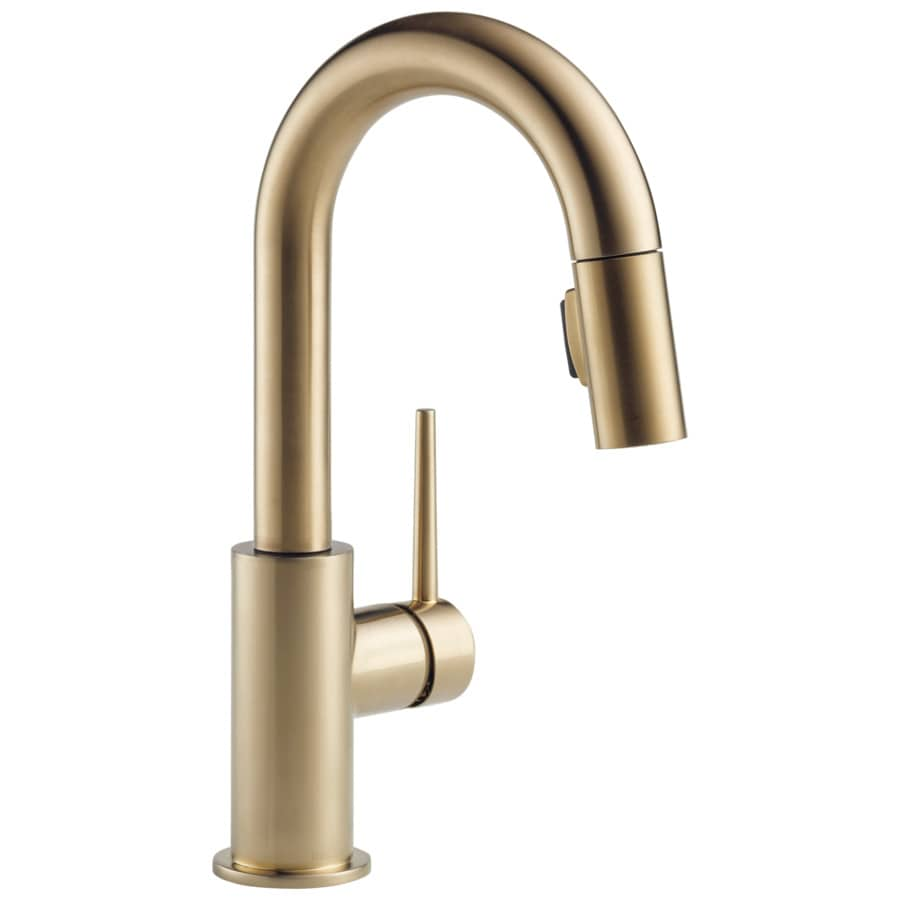Delta Trinsic Champagne Bronze 2 Handle Deck Mount Pull Down Bar And Prep Faucet