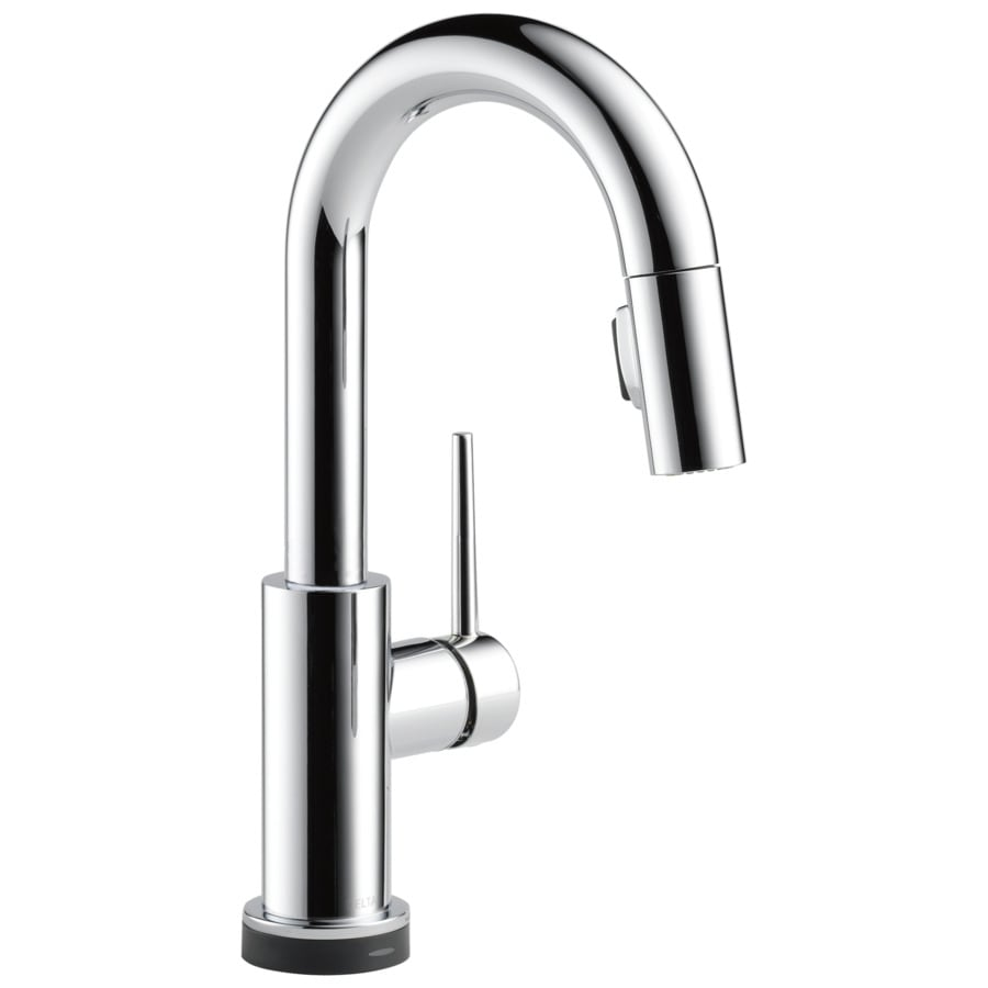Delta Trinsic Touch Chrome 1-handle Deck Mount Pull-down Touch Bar And Prep Faucet