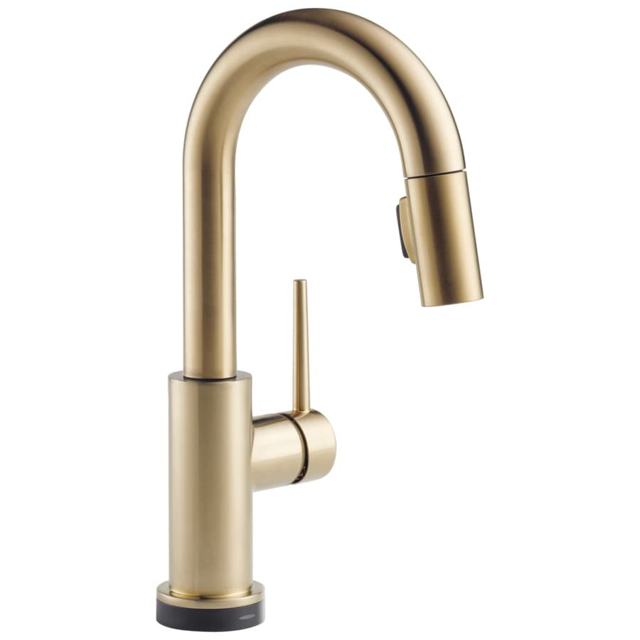 Delta Trinsic Touch Champagne Bronze 1-Handle Bar and Prep Faucet