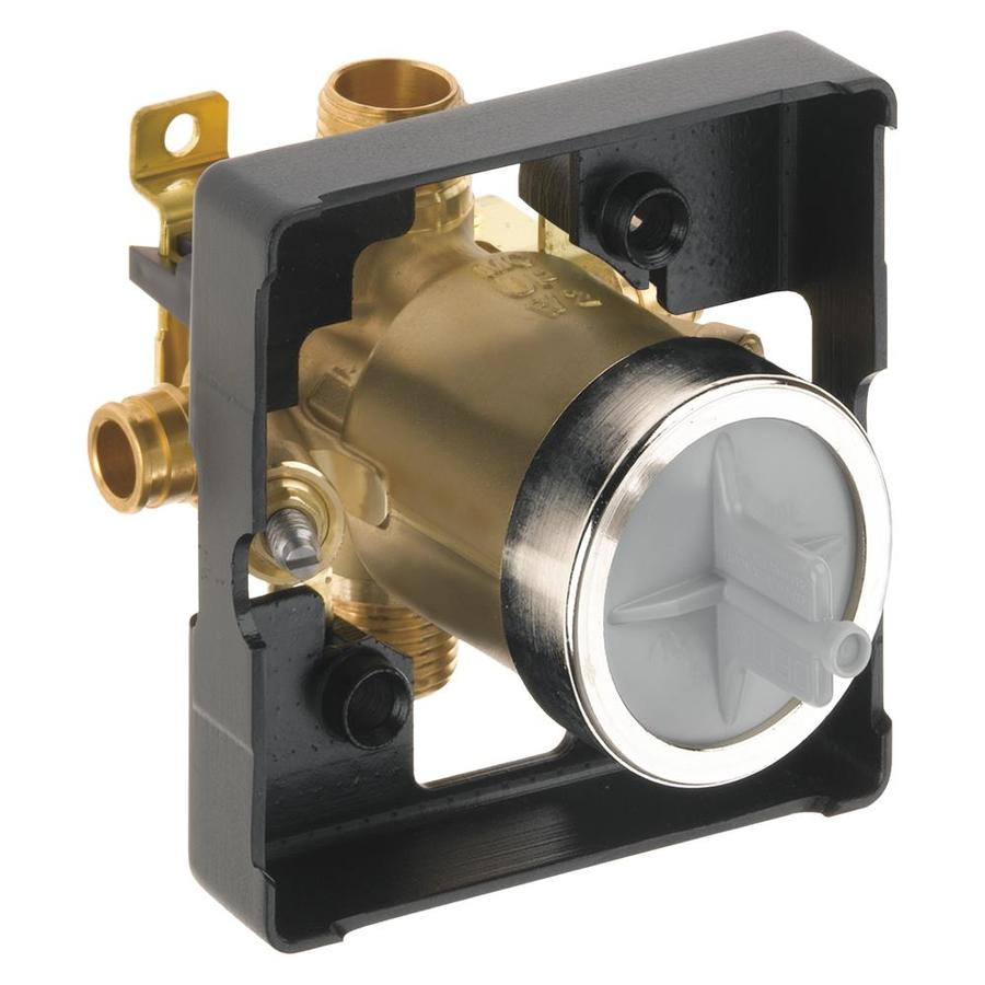 Delta 1/2-in Brass Pex In-Line Shower Valve Integral Stops