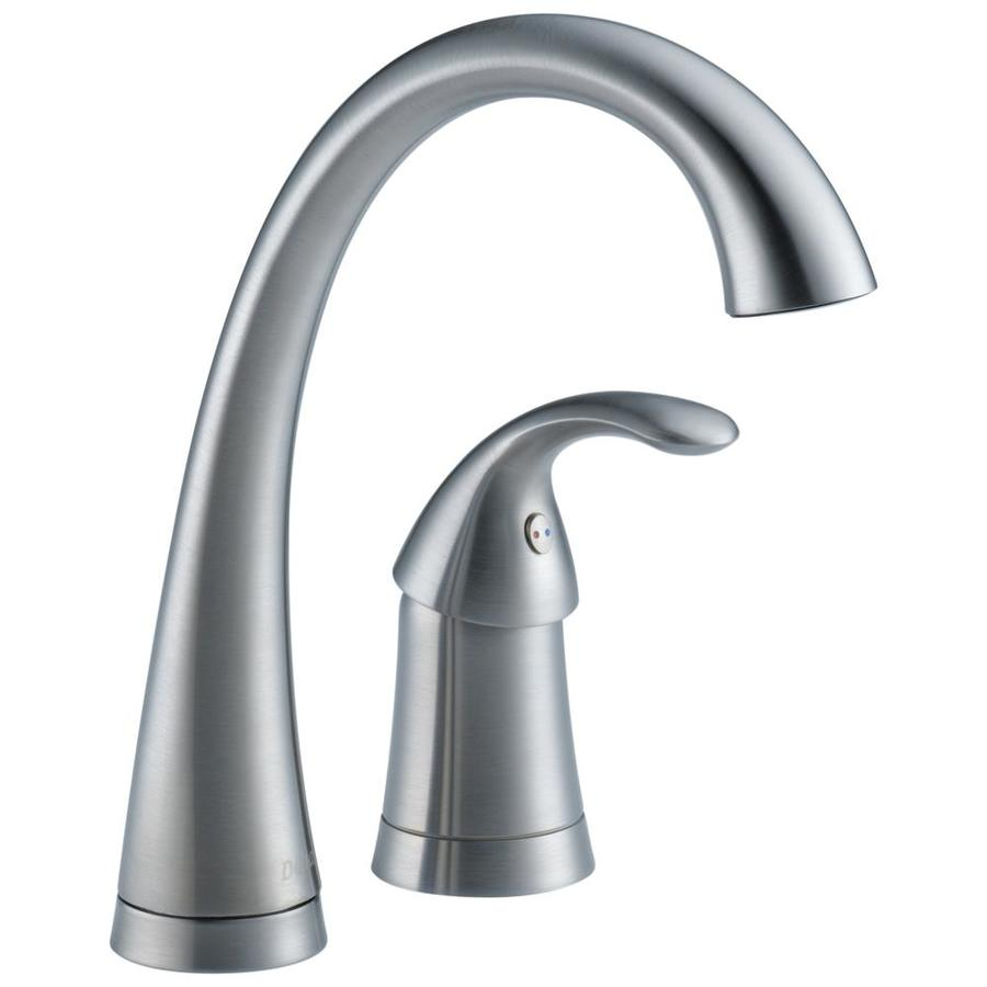 Delta Pilar Arctic Stainless 1-Handle Bar and Prep Faucet