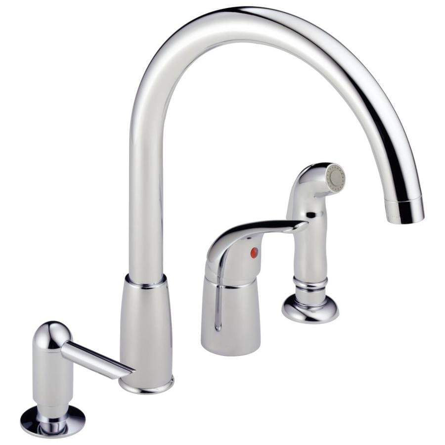Shop Peerless Chrome 1-handle Deck Mount High-Arc Kitchen Faucet at ...