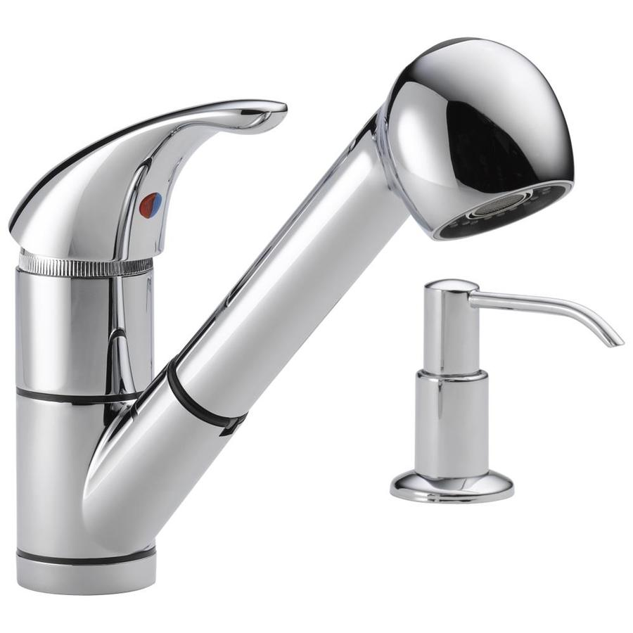 shop peerless chrome 1 handle pull out kitchen faucet at canadian tire peerless 174 pull out kitchen faucet customer