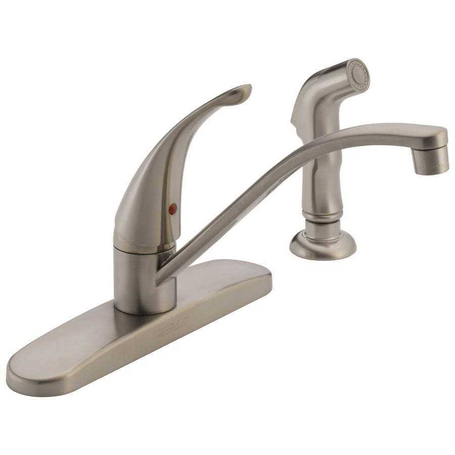 Shop Peerless Stainless 1-Handle Deck Mount Low-arc Kitchen Faucet ...