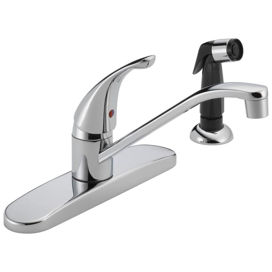 Peerless Core Chrome 1-Handle Deck Mount Low-Arc Kitchen Faucet