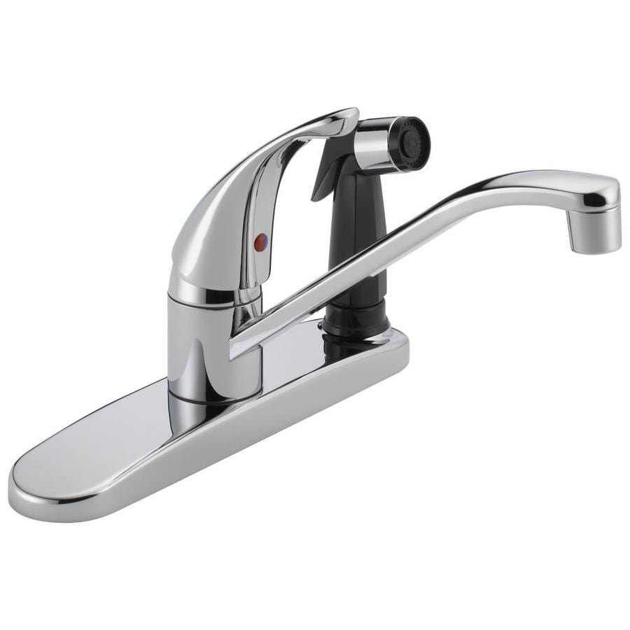 Peerless Core Chrome 1-Handle Low-Arc Kitchen Faucet with Side Spray