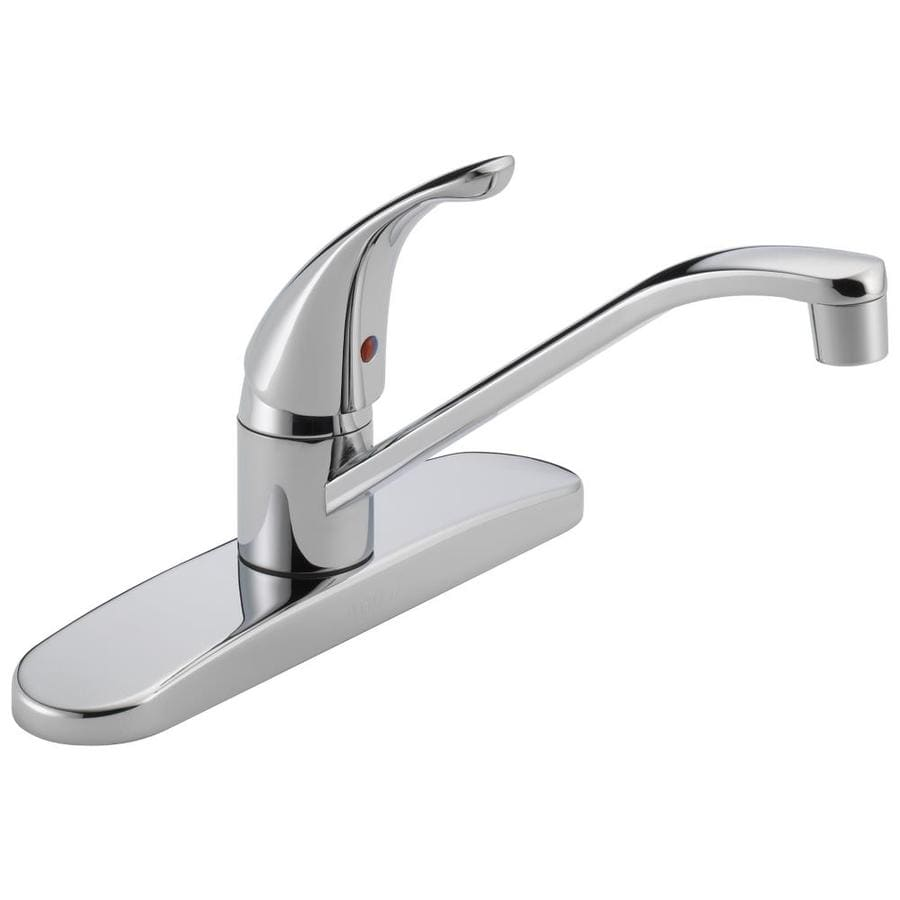 Low Arc Kitchen Faucet Shop Peerless Chrome 1 Handle Low Arc Kitchen Faucet At Lowescom