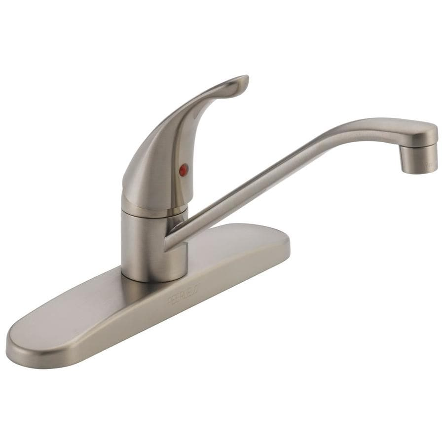 Shop Peerless Stainless 1 Handle Deck Mount Low Arc