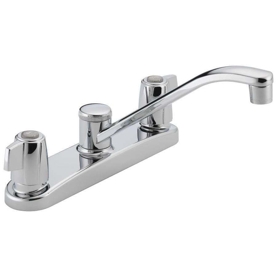 Low Arc Kitchen Faucet Shop Peerless Chrome 2 Handle Low Arc Kitchen Faucet At Lowescom
