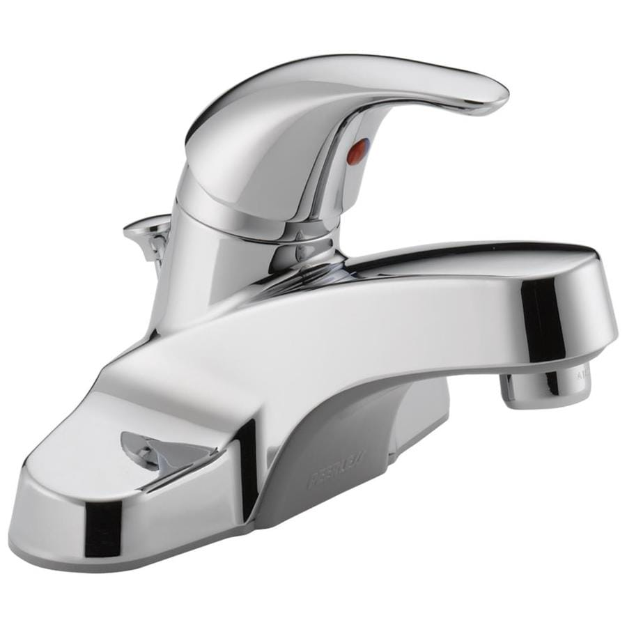 Peerless Core Chrome 1-Handle 4-in Centerset WaterSense Bathroom Faucet (Drain Included)