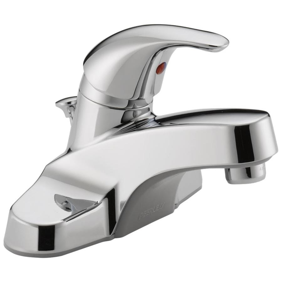 Peerless Core Chrome 1-Handle 4-in Centerset WaterSense Bathroom Faucet (Drain Included)
