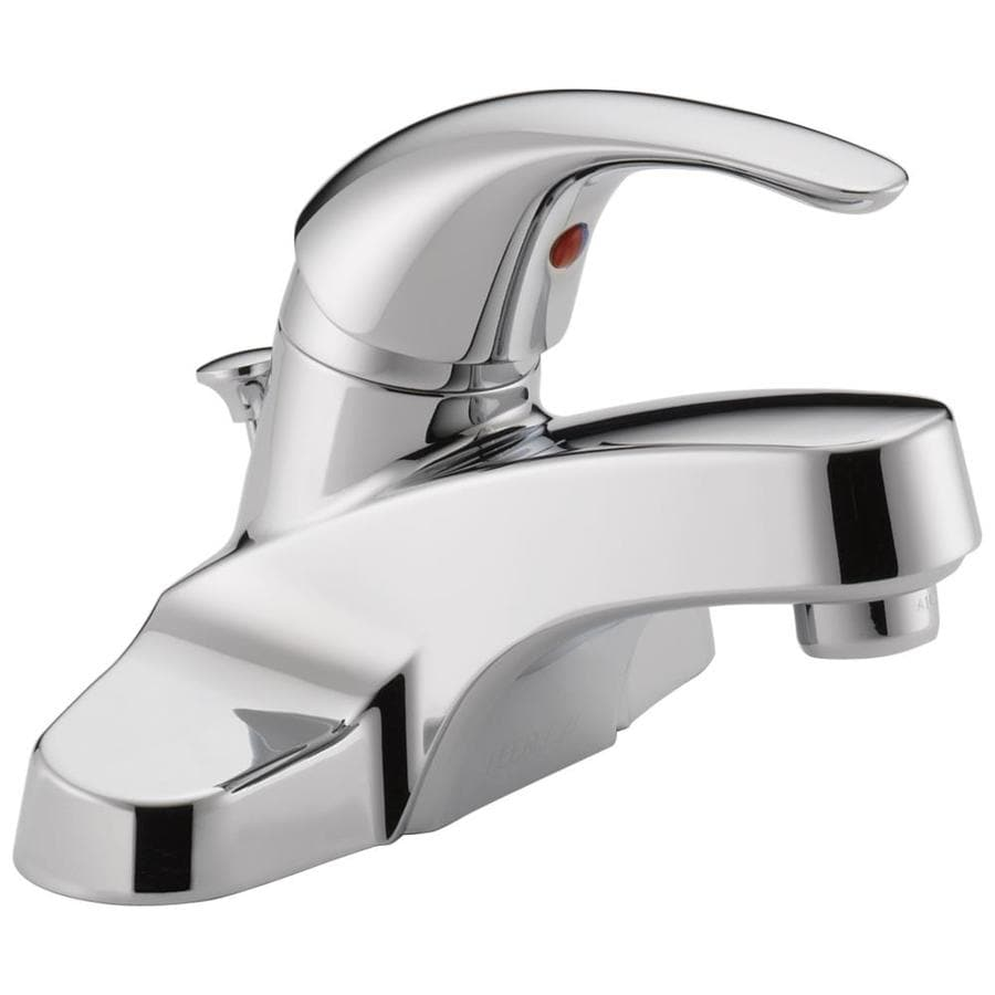 Shop Peerless Chrome 1-Handle 4-in Centerset Bathroom Sink Faucet at ...