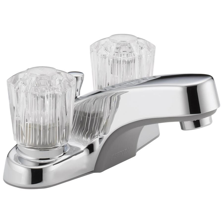 Shop Peerless Chrome 2 Handle 4 In Centerset Watersense