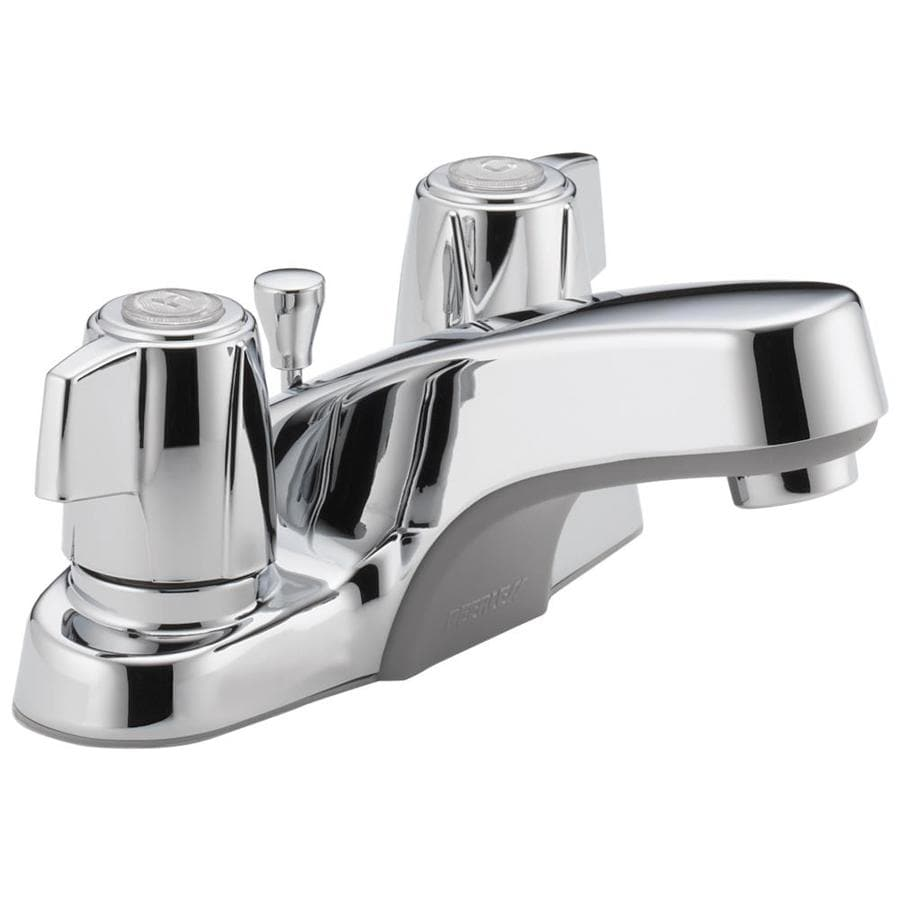 Peerless Chrome 2-Handle 4-in Centerset WaterSense Bathroom Faucet (Drain Included)