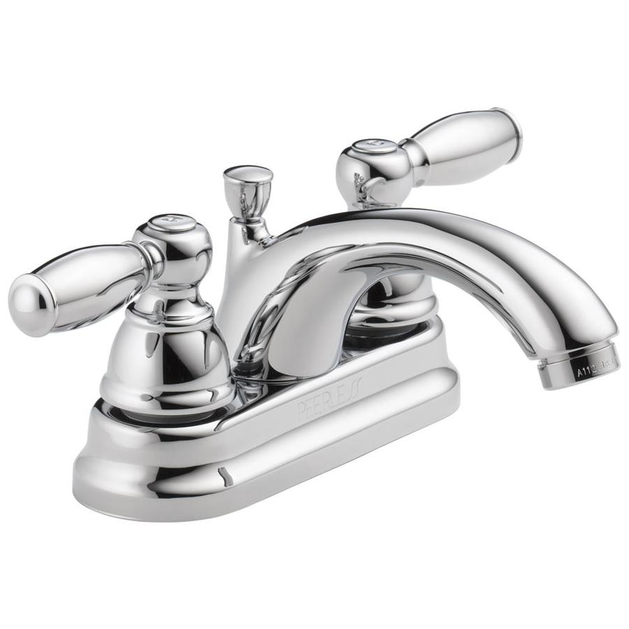 Peerless Apex Chrome 2-Handle 4-in Centerset WaterSense Bathroom Faucet (Drain Included)