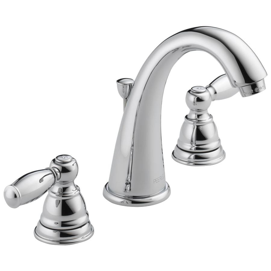 Shop peerless apex chrome 2 handle widespread bathroom sink faucet at for Lowes widespread bathroom faucets