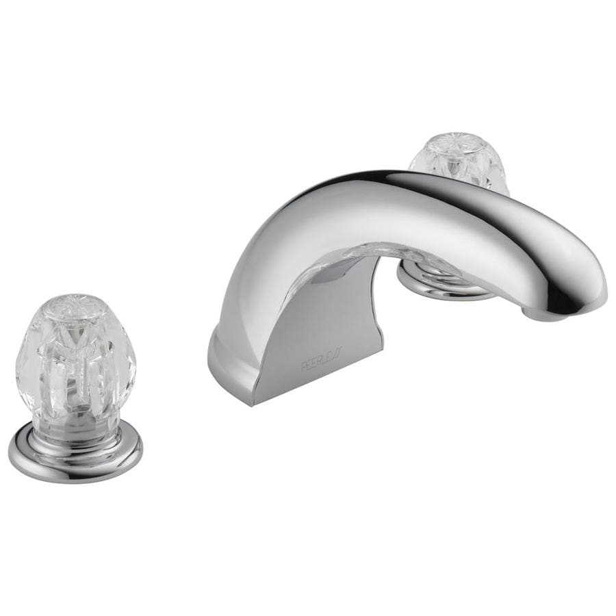 Shop Peerless Chrome 2 Handle Adjustable Deck Mount Bathtub Faucet At