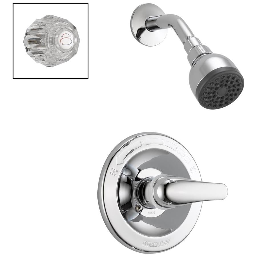 Peerless Chrome 1-Handle WaterSense Shower Faucet with Single Function Showerhead