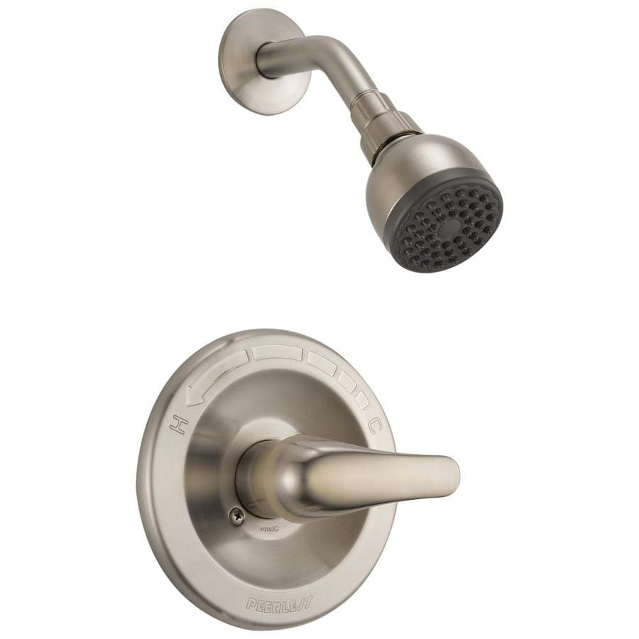 Peerless Brushed Nickel 1-Handle WaterSense Shower Faucet Trim Kit with Single Function Showerhead
