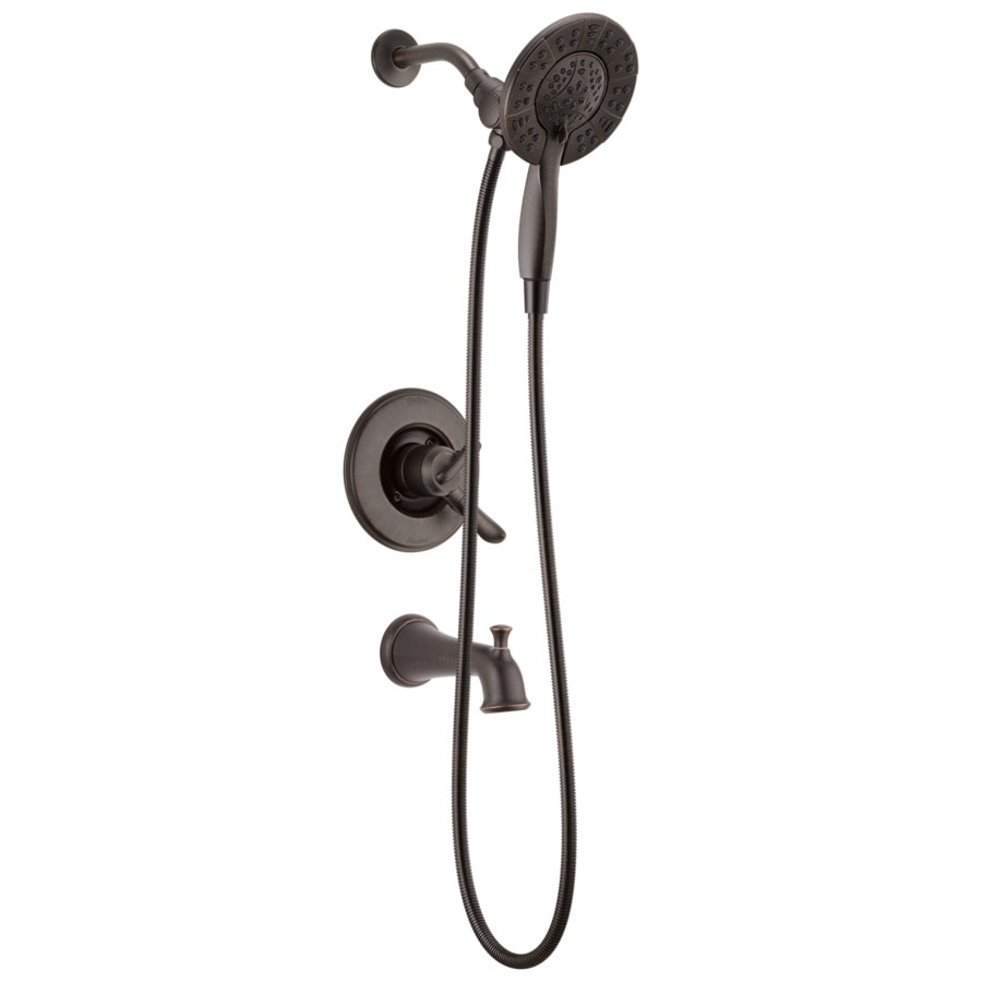 Shop Delta Linden Venetian Bronze 1 Handle WaterSense Bathtub And Shower Fauc