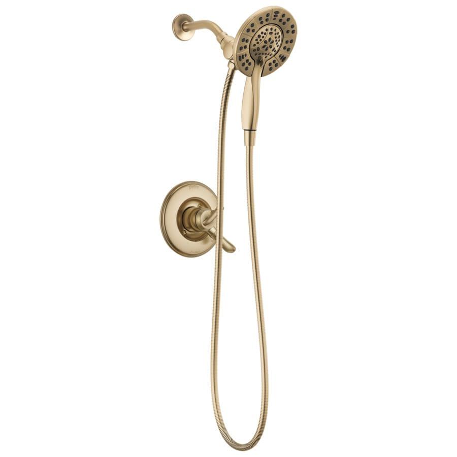 Delta Linden Champagne Bronze 1-Handle WaterSense Shower Faucet Trim Kit with Handheld Showerhead