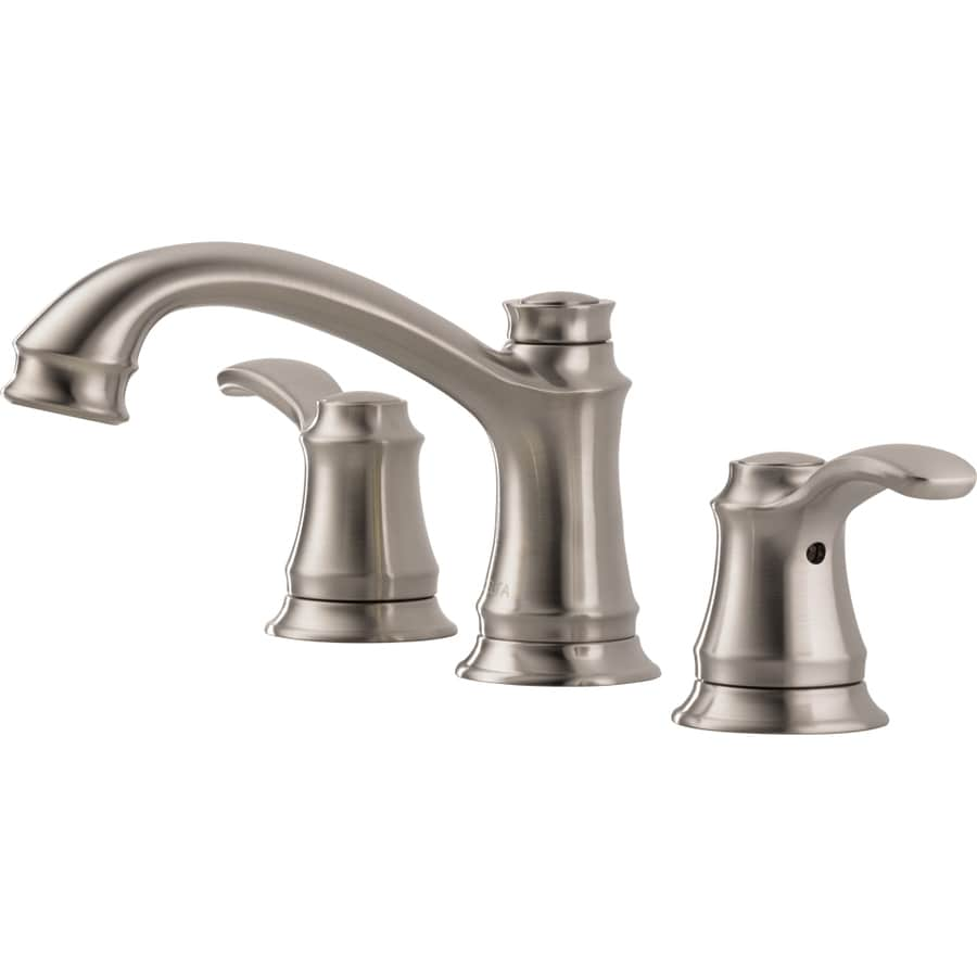 Delta Nura Stainless 2-Handle Widespread WaterSense Bathroom Sink Faucet (Drain Included)