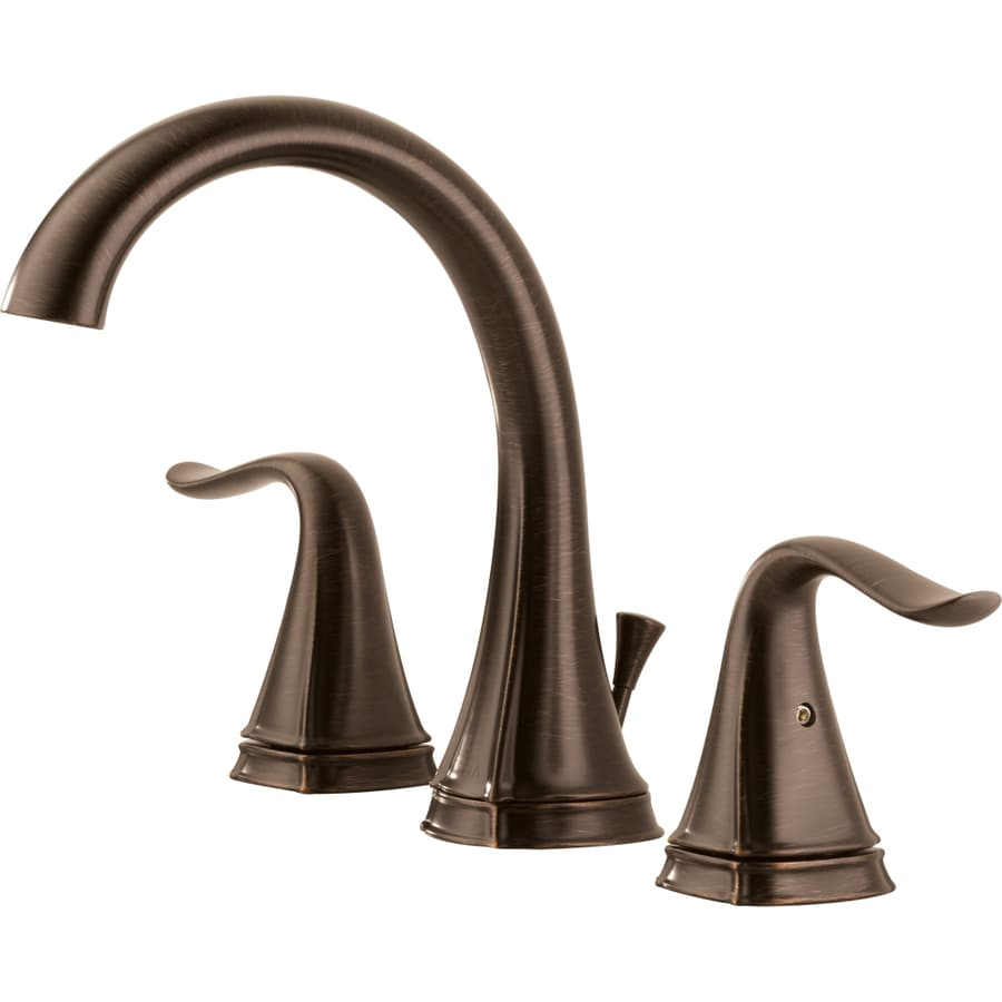 Shop delta celice venetian bronze 2 handle widespread watersense bathroom faucet drain included for Delta widespread bathroom faucet