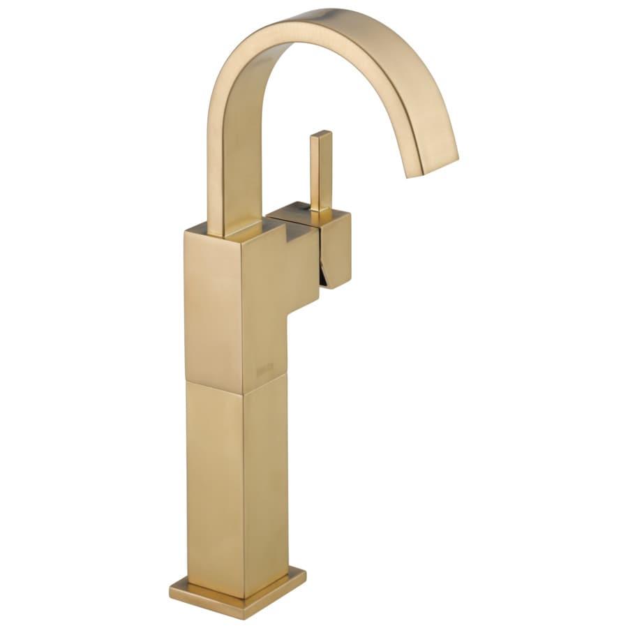Delta Vero Champagne Bronze 1-Handle 4-in Centerset WaterSense Bathroom Faucet