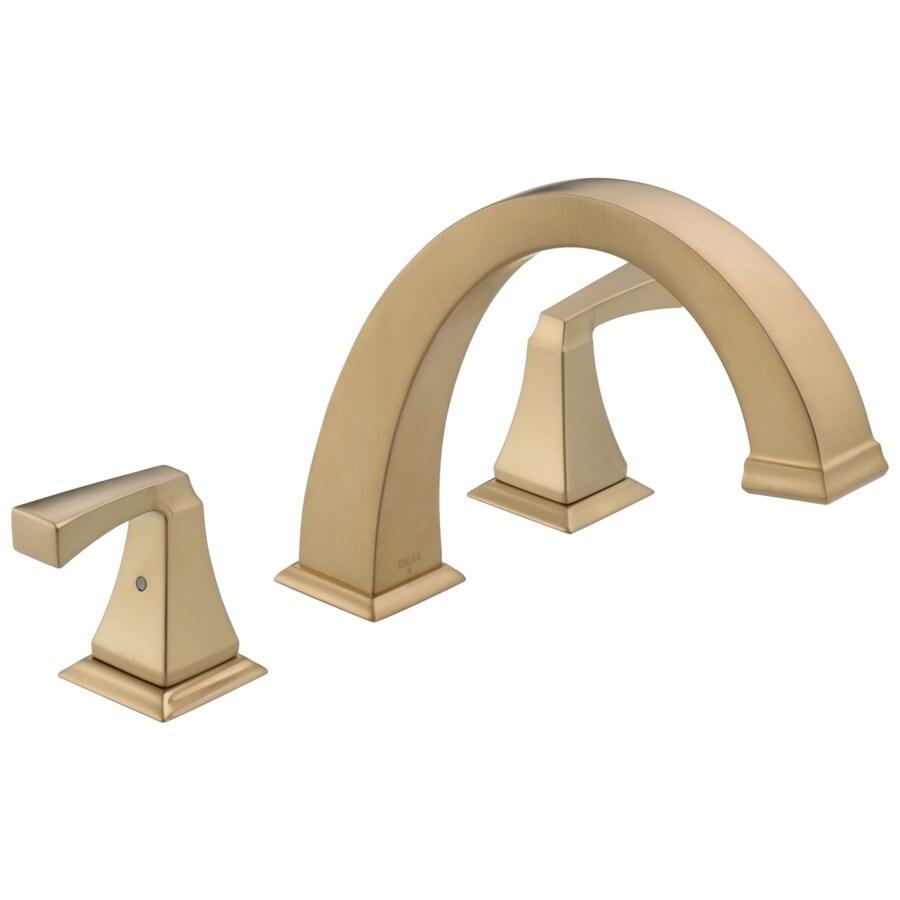 Delta Dryden Champagne Bronze 2-Handle Deck Mount Bathtub Faucet