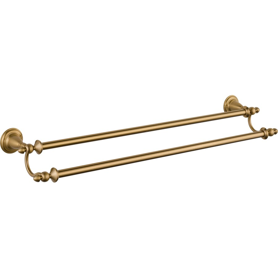 Delta Victorian Champagne Bronze Double Towel Bar (Common: 24-in; Actual: 27.625-in)