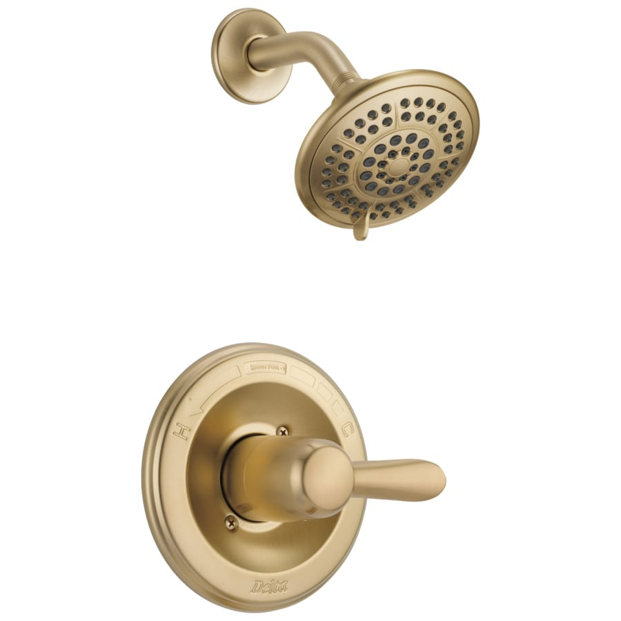 Delta Lahara Champagne Bronze 1-Handle Shower Faucet Trim Kit with Single Function Showerhead