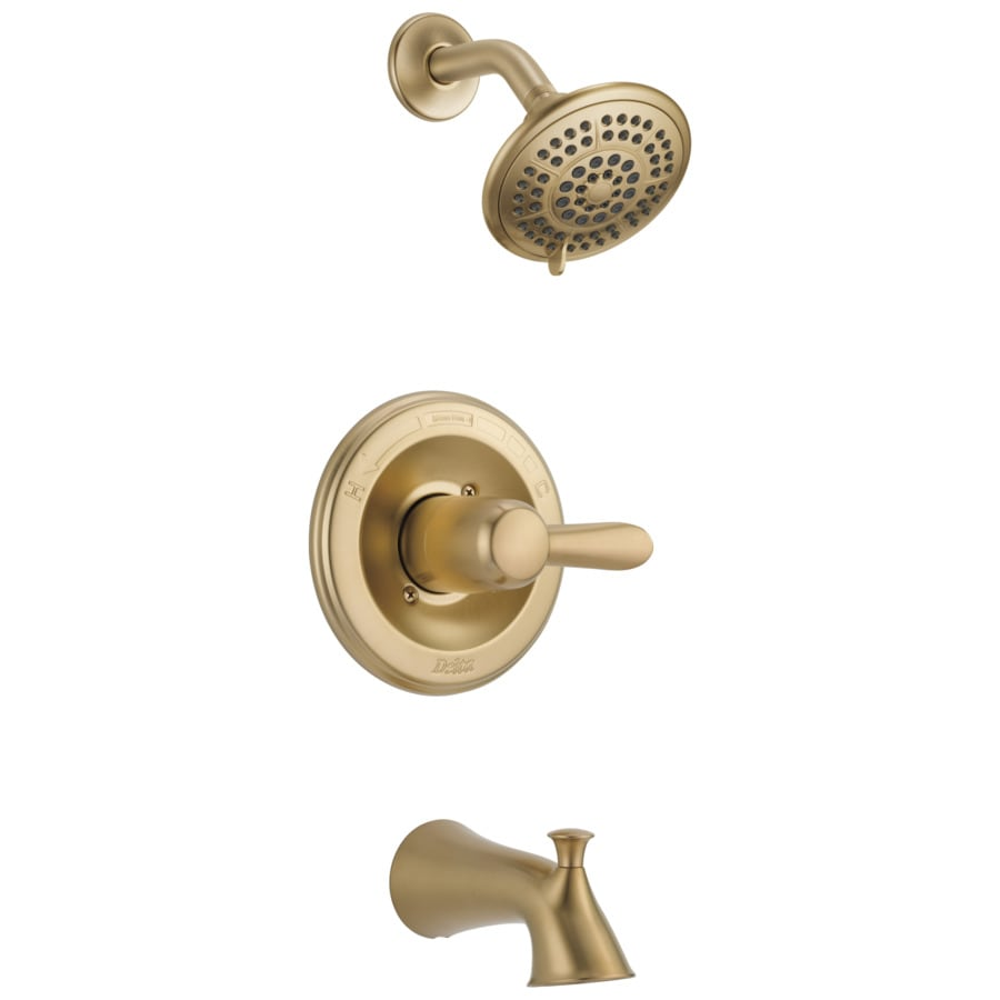 Delta Lahara Champagne Bronze 1-Handle Bathtub and Shower Faucet