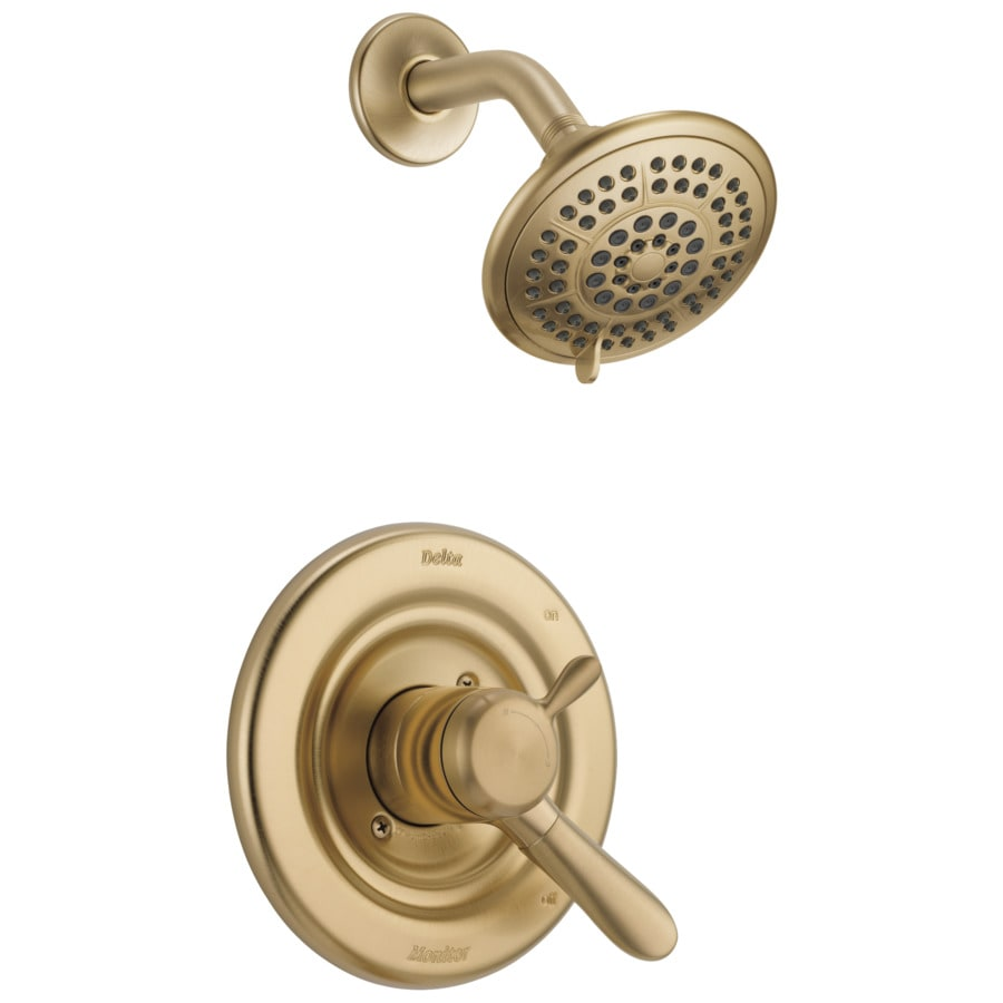 Delta Lahara Champagne Bronze 1 Handle Shower Faucet