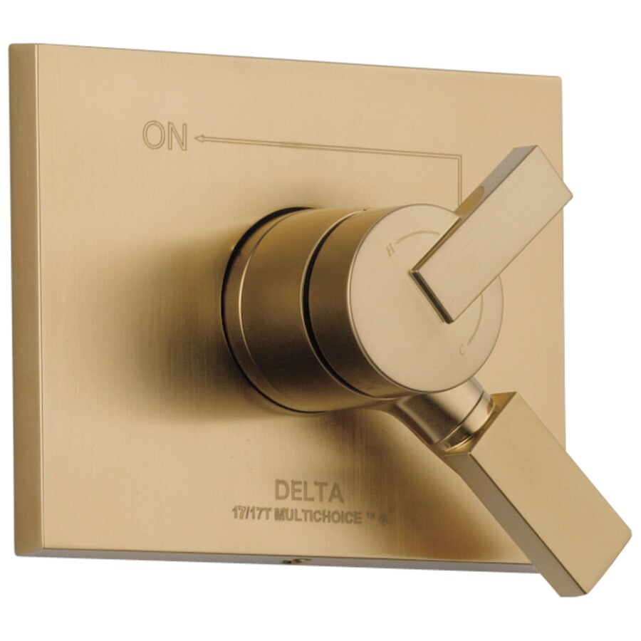 Delta Vero Champagne Bronze 1-Handle Shower Faucet Trim Kit with Sold Separately Showerhead