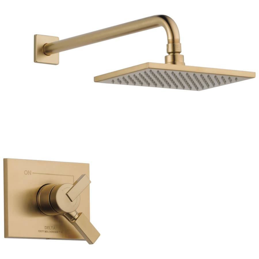 Delta Vero Champagne Bronze 1-Handle Shower Faucet with Rain Showerhead
