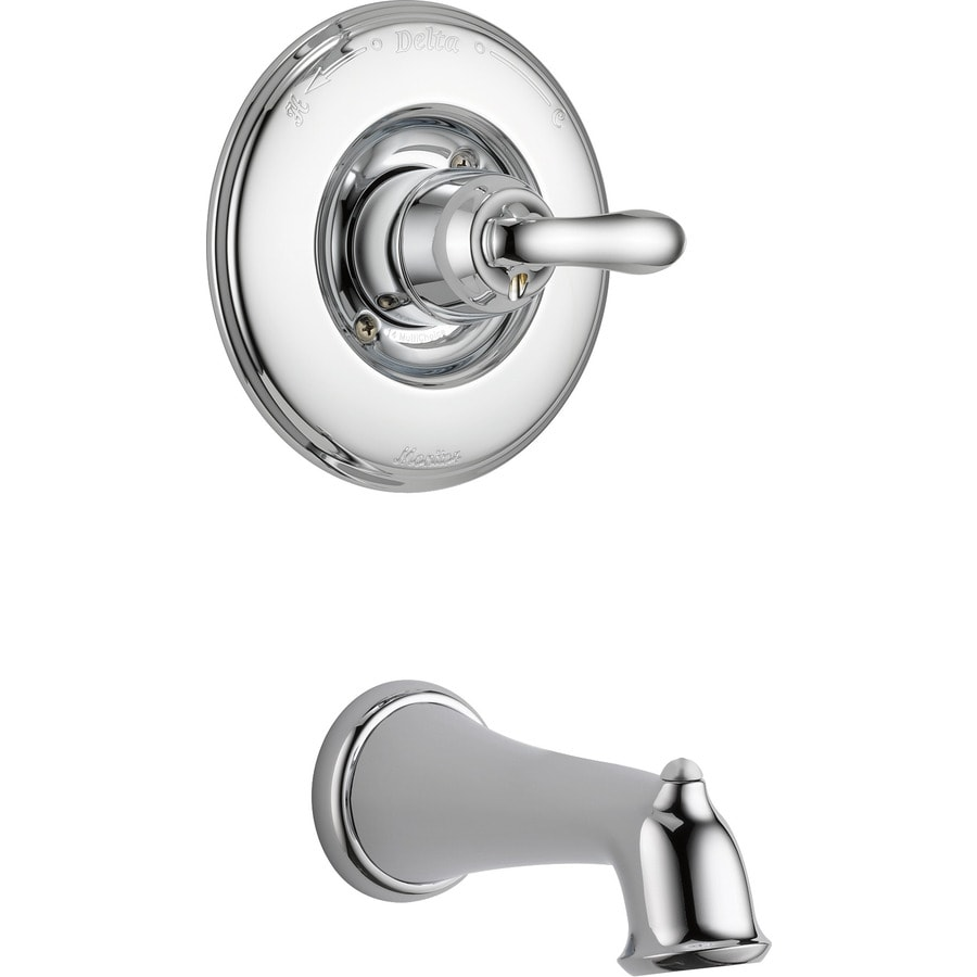 shop delta linden chrome 1 handle shower faucet trim kit with sold