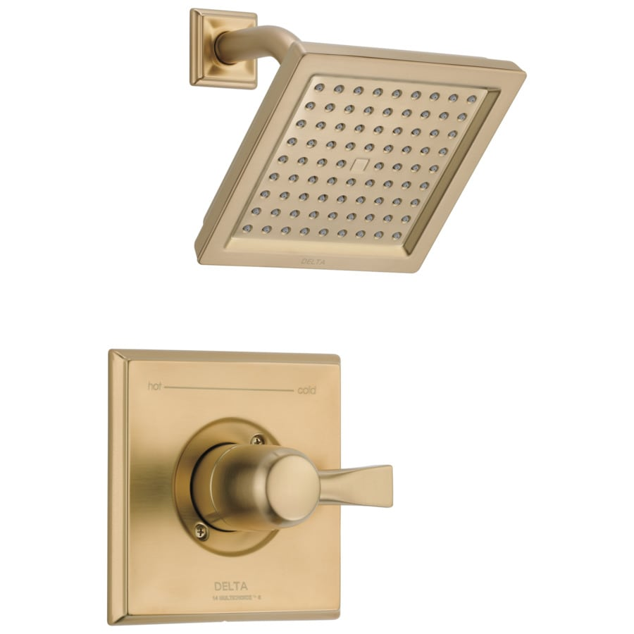 Delta Dryden Champagne Bronze 1-Handle Shower Faucet with Rain Showerhead