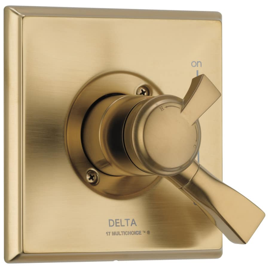 Delta Dryden Champagne Bronze 1-Handle Shower Faucet Trim Kit with Sold Separately Showerhead