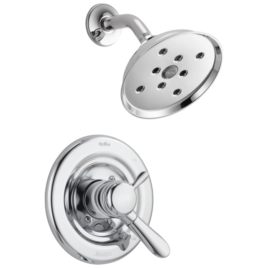 delta lahara chrome 1 handle watersense shower faucet trim kit with
