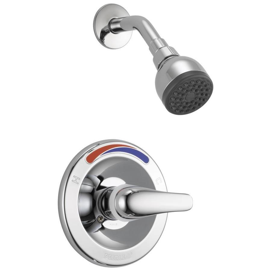 Peerless Chrome 1-Handle WaterSense Shower Faucet Trim Kit with Single Function Showerhead