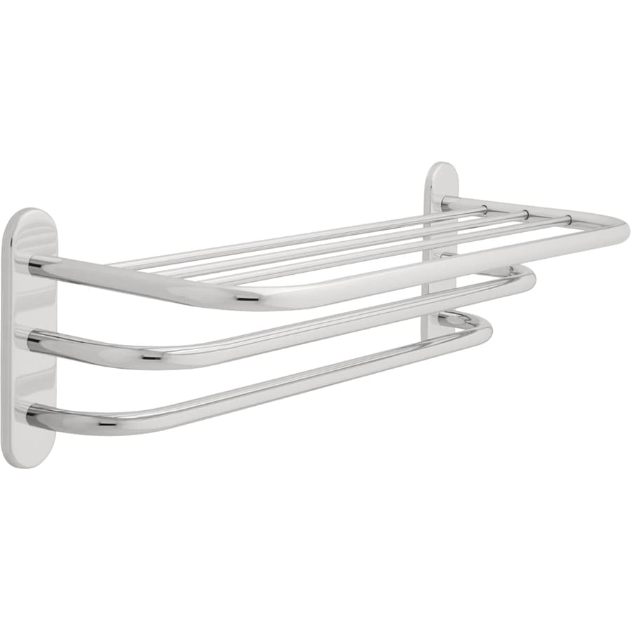 Delta Chrome Double Towel Bar (Common: 24-in; Actual: 26.125-in)