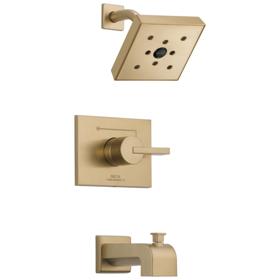 Delta Vero Champagne Bronze 1-Handle WaterSense Bathtub and Shower Faucet Trim Kit with Single Function Showerhead
