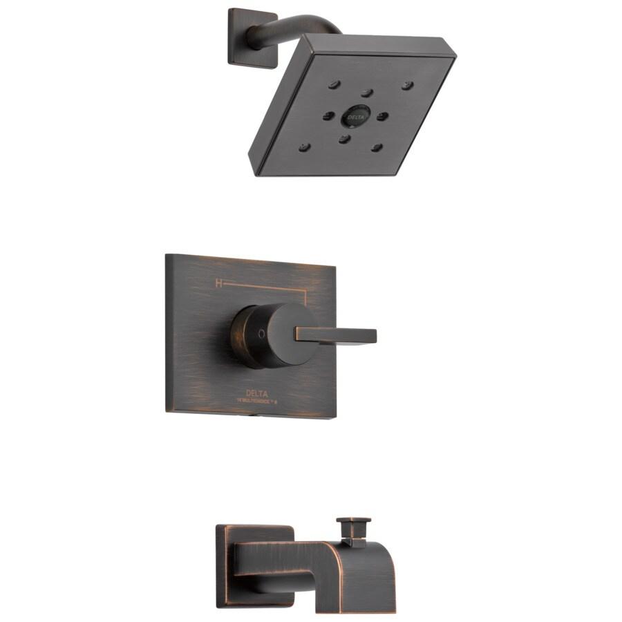 Delta Vero Venetian Bronze 1-Handle WaterSense Bathtub and Shower Faucet Trim Kit with Single Function Showerhead