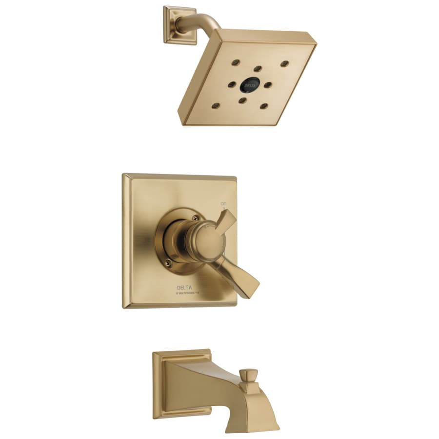 Delta Dryden Champagne Bronze 1-Handle WaterSense Bathtub and Shower Faucet Trim Kit with Single Function Showerhead