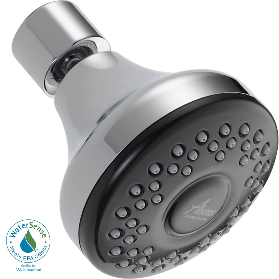 Delta 3-in 2.0-GPM (7.6-LPM) Chrome 1-Spray WaterSense Showerhead