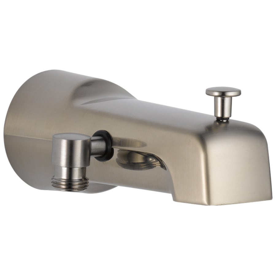 Shop Delta Steel Stainless Bathtub Spout With Diverter At