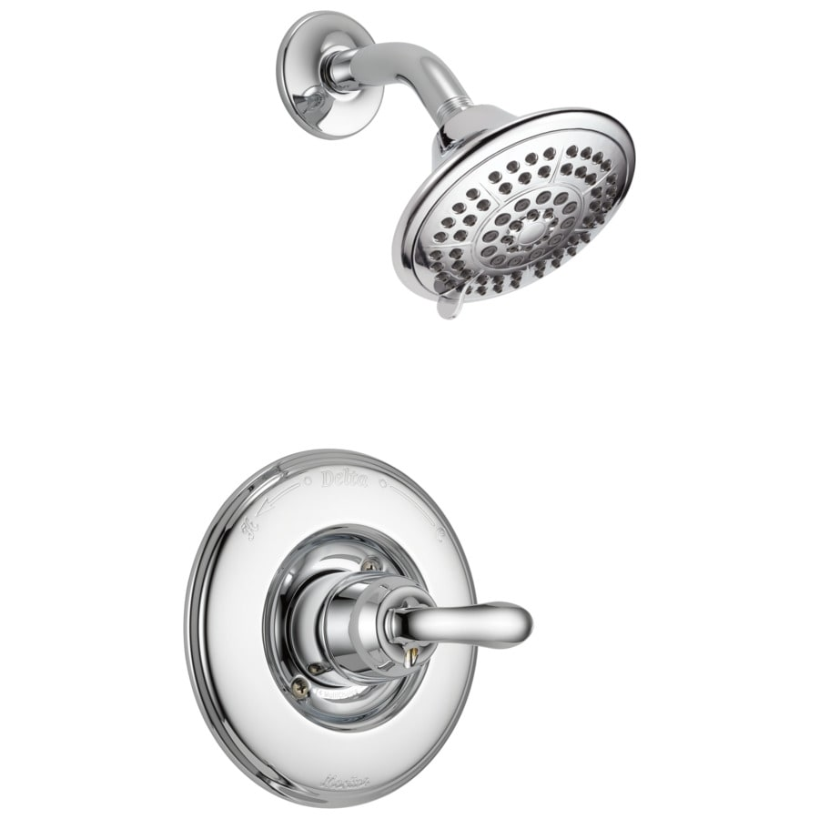 Delta Linden Chrome 1-Handle Shower Faucet Trim Kit with Single Function Showerhead