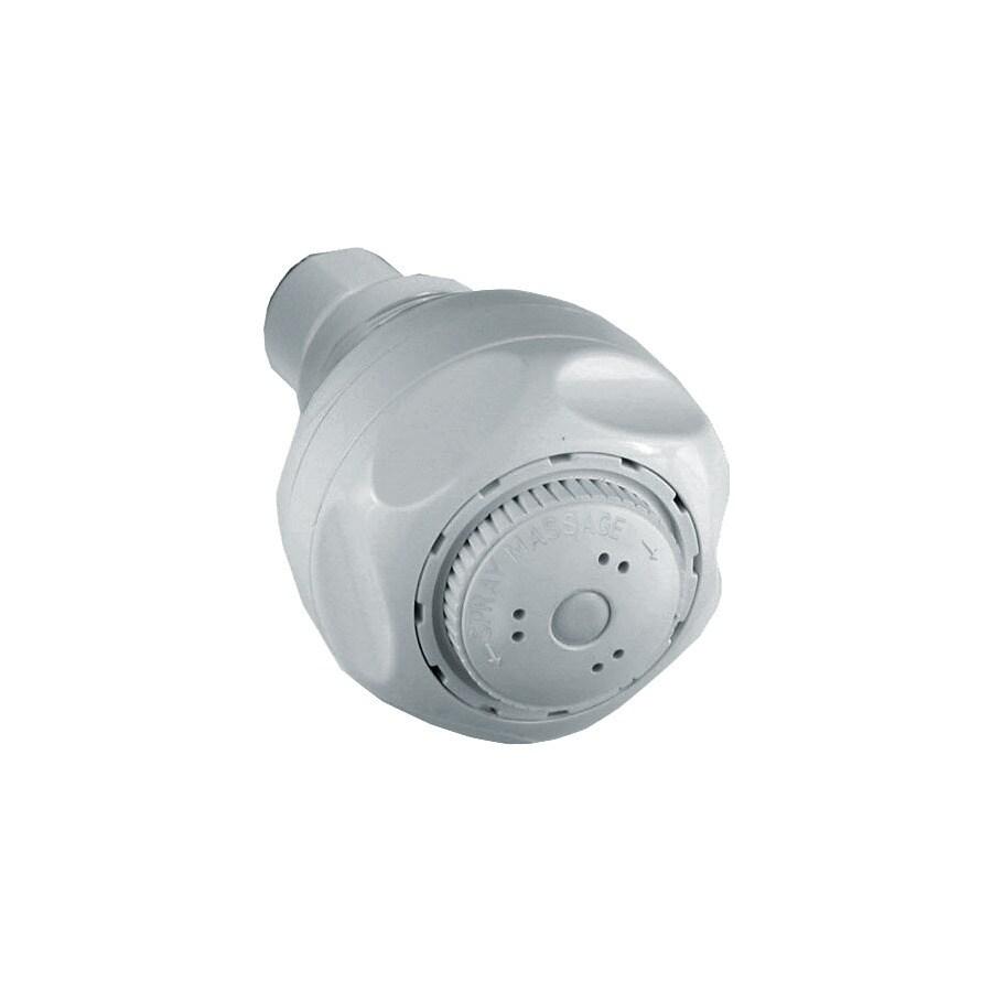 Delta 2.65-in 1.5-GPM (5.7-LPM) White 3-Spray WaterSense Showerhead