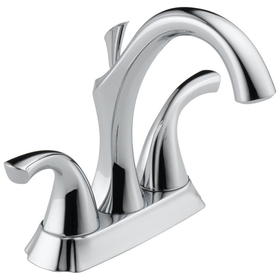 Delta Addison Chrome 2-Handle 4-in Centerset WaterSense Bathroom Faucet (Drain Included)